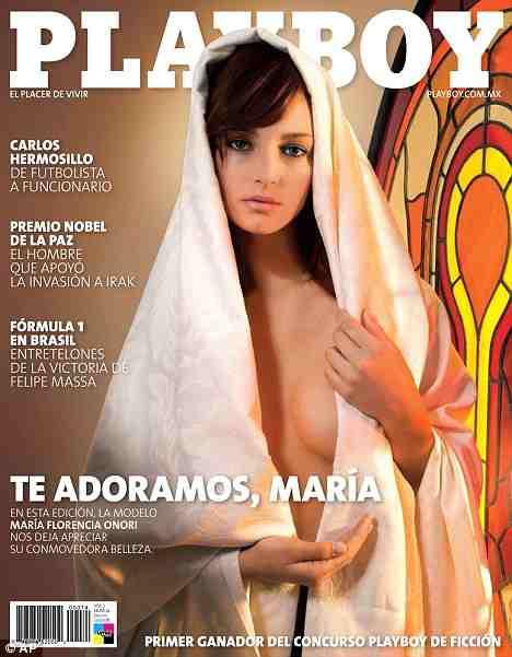 Virgin Mary Playboy Cover